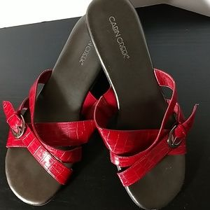 Red Sandals by Cabin Creek Size 8 1/2